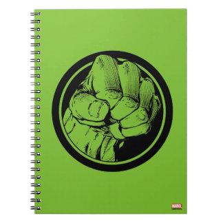 Logotipo del puño del armatoste de los vengadores notebook