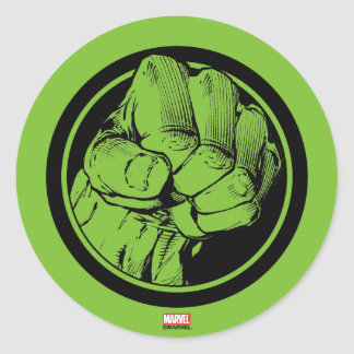 Logotipo del puño del armatoste de los vengadores pegatina redonda