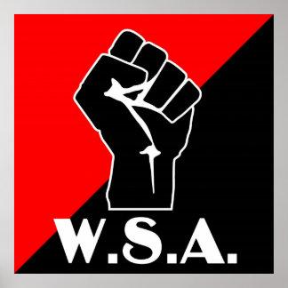 logotipo del puño del wsa póster