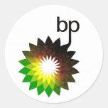logotipo del punto de ebullición pegatina redonda