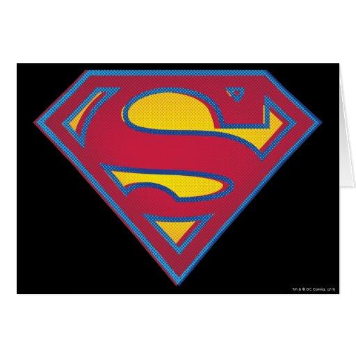 Logotipo del punto del superhombre tarjetón
