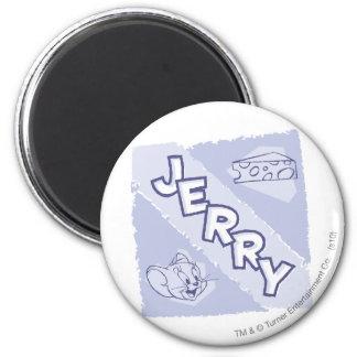 Logotipo del queso verde de Jerry Imán Redondo 5 Cm