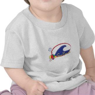 Logotipo del rancho del mar camisetas