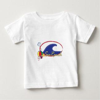 Logotipo del rancho del mar playera de bebé