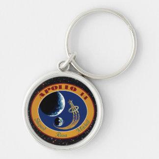Logotipo del remiendo de la misión de la NASA de Llavero Redondo Plateado
