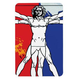Logotipo del remiendo de la misión del hombre de rectangle magnet