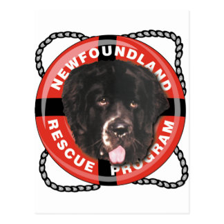 Logotipo del rescate de Newf Tarjetas Postales