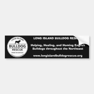 Logotipo del rescate del dogo de Long Island Etiqueta De Parachoque