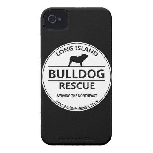 Logotipo del rescate del dogo de Long Island iPhone 4 Case-Mate Cárcasa