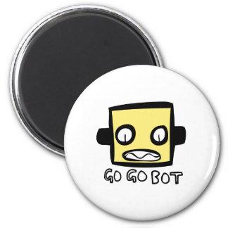Logotipo del robot de GoGoBot Iman De Frigorífico