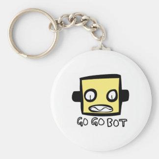 Logotipo del robot de GoGoBot Llaveros Personalizados