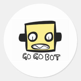 Logotipo del robot de GoGoBot Pegatina Redonda