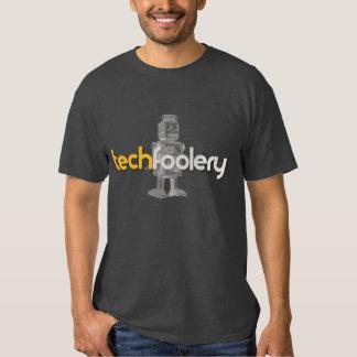 Logotipo del robot de Techfoolery - hombres Poleras