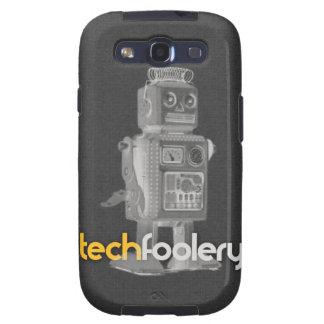 Logotipo del robot de Techfoolery - SGS3 caso, par Samsung Galaxy S3 Cobertura