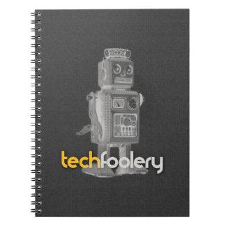 Logotipo del robot del TF - cuaderno