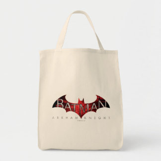 Logotipo del rojo del caballero de Batman Arkham Bolsa Tela Para La Compra