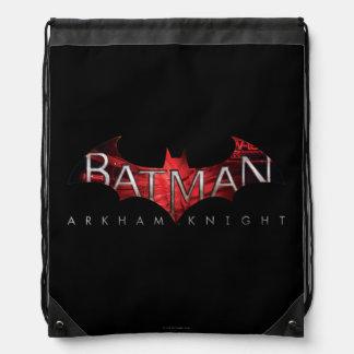Logotipo del rojo del caballero de Batman Arkham Mochilas