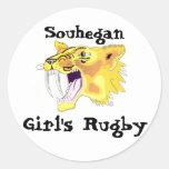 logotipo del sable de los shs, Souhegan, el rugbi  Pegatina