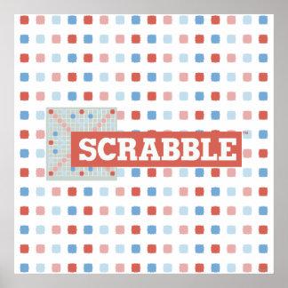 Logotipo del Scrabble del vintage Póster
