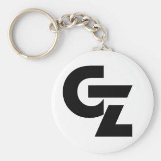 Logotipo del sello de GZ Llavero Redondo Tipo Pin