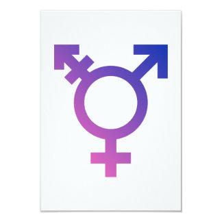 """Logotipo del símbolo del transexual invitación 3.5"""" x 5"""""""