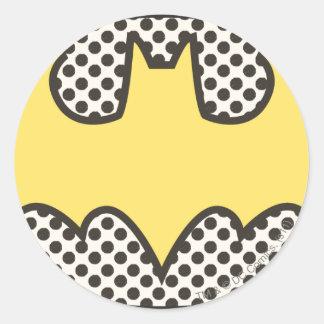 Logotipo del símbolo el | Showtime de Batman Pegatina Redonda