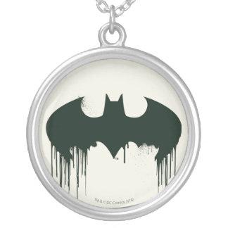 Logotipo del símbolo el   Spraypaint de Batman Colgante Redondo
