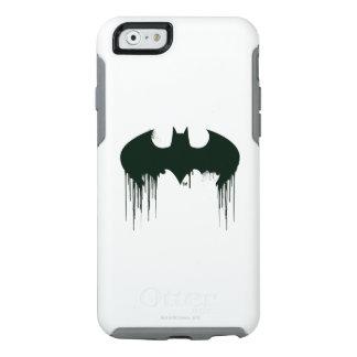 Logotipo del símbolo el   Spraypaint de Batman Funda Otterbox Para iPhone 6/6s