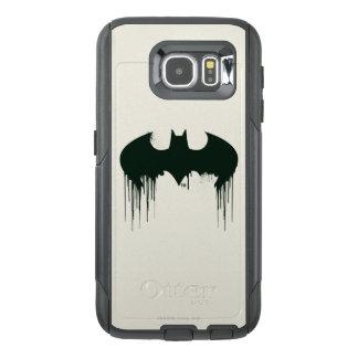 Logotipo del símbolo el | Spraypaint de Batman Funda OtterBox Para Samsung Galaxy S6