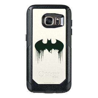 Logotipo del símbolo el   Spraypaint de Batman Funda Otterbox Para Samsung Galaxy S7