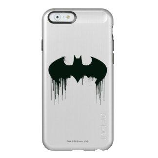 Logotipo del símbolo el   Spraypaint de Batman Funda Para iPhone 6 Plus Incipio Feather Shine