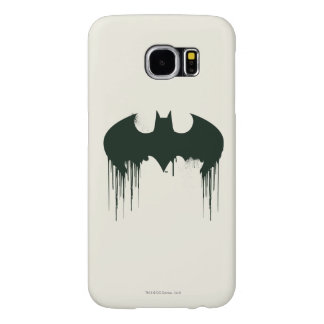 Logotipo del símbolo el   Spraypaint de Batman Fundas Samsung Galaxy S6