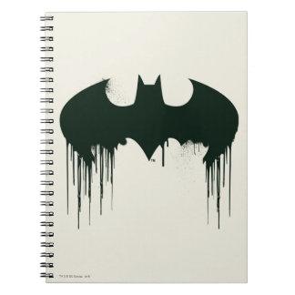 Logotipo del símbolo el   Spraypaint de Batman Libretas Espirales