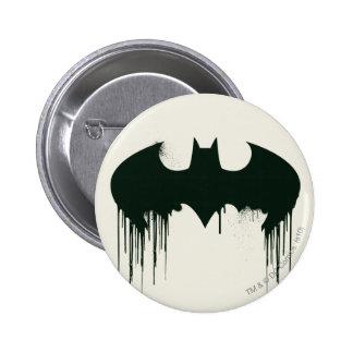Logotipo del símbolo el | Spraypaint de Batman Pin Redondo De 2 Pulgadas