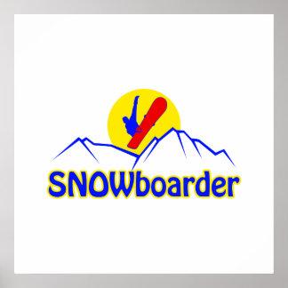 Logotipo del SNOWboarder Posters