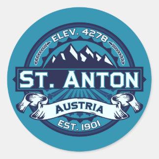 Logotipo del St. Antón Pegatina Redonda