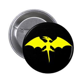 Logotipo del super héroe del dinosaurio del Pterod Pin Redondo 5 Cm