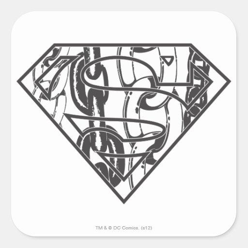 Logotipo del superhombre de Chainlink Colcomania Cuadrada