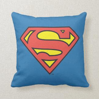 Logotipo del superhombre del S-Escudo el | del Cojín Decorativo