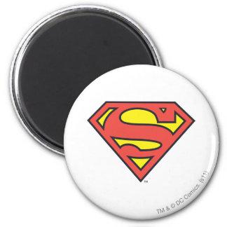 Logotipo del superhombre del S-Escudo el | del Imán Redondo 5 Cm