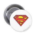 Logotipo del superhombre del S-Escudo el | del Pin Redondo De 2 Pulgadas