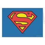 Logotipo del superhombre del S-Escudo el   del Tarjeta De Felicitación