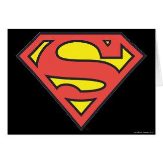 Logotipo del superhombre tarjeta de felicitación