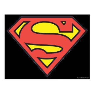 Logotipo del superhombre tarjeta postal