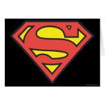 Logotipo del superhombre tarjetón