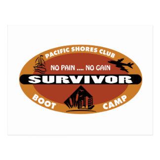 Logotipo del superviviente de Bootcamp de Jin Postal