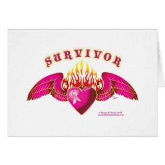 Logotipo del superviviente del cáncer de pecho felicitación