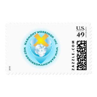 Logotipo del taller de la armonía sellos
