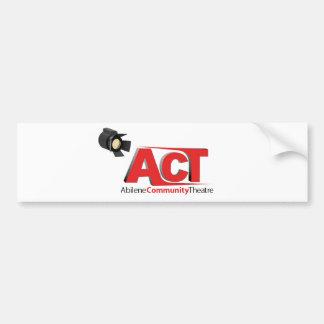 Logotipo del teatro de la comunidad de Abilene Pegatina Para Auto