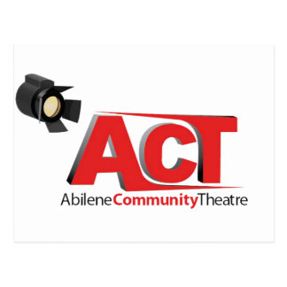 Logotipo del teatro de la comunidad de Abilene Postal